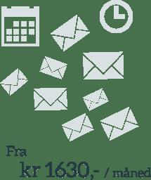 Medie email-løsning Fra kr 1630,- / måned