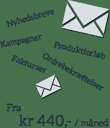 Webshop email-løsning fra kr 440,- / måned
